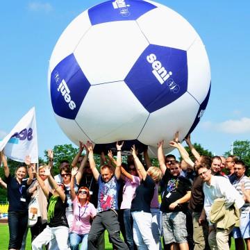 Giant ball helium double-shell balloon