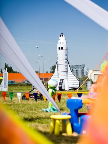 Inflatable rocket - unique advertising balloon.