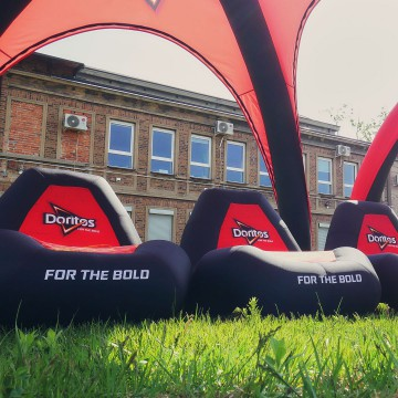 VENTO inflatable armchairs with Doritos branding