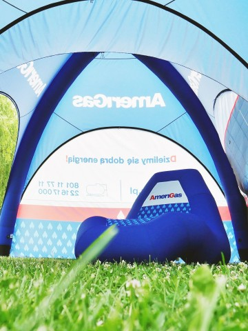 VENTO inflatable advertising chair with AmeriGas branding