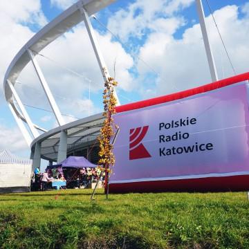 An inflatable billboard (screen) of the Polskie Radio Katowice