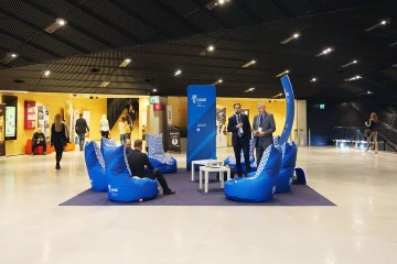 Relax area during the conference at the International Congress Center in Katowice.