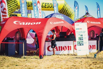 VENTO SIX Canon advertising tent, Lech tent and Runmageddon polygon gate