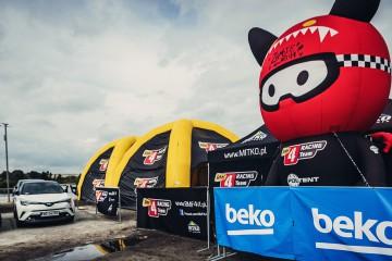 Unusual Balloon Mascot of the RMF 4Racing Team rally team