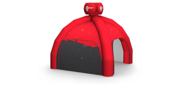 Tent with a 3D element